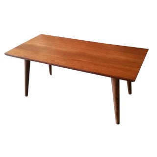 Mid Century Style Custom Walnut Coffee Table