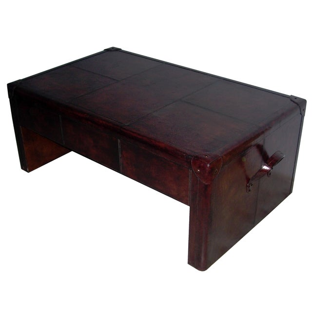 Genuine Leather Coffee Table - Image 2 of 4