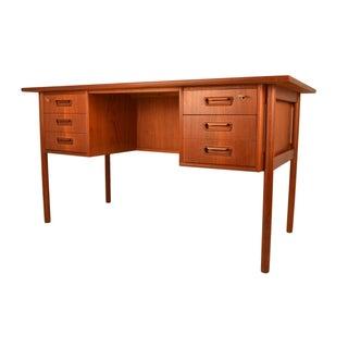 Mid-Century Free Standing Teak Desk by Tibergaard