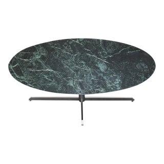 Vintage Knoll Verde Alpi Marble Oval Dining Table