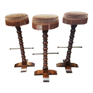 1920s Vintage Bar Stools - Set of 3