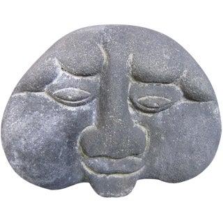 Stone Potato Face Statue