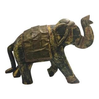 Bohemian Wooden Elephant Figurine