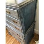 Image of Blu & Gray Tall Boy Dresser