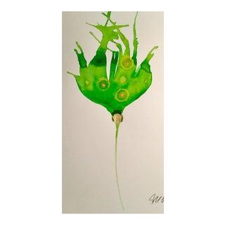 Sprite Botanical Original Watercolor Painting