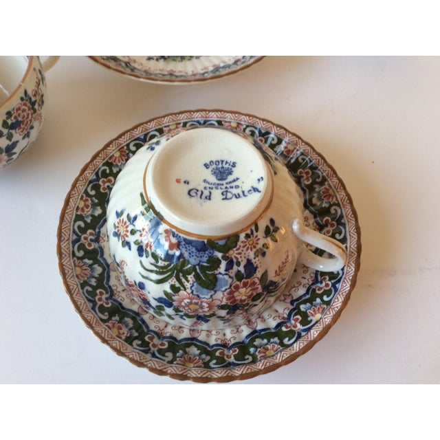 "Booths ""Old Dutch"" Cup & Saucers - Set of 4 - Image 11 of 11"