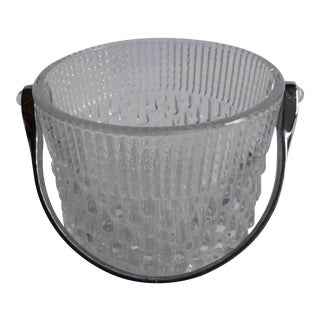 1960's French Crystal Ice Bucket