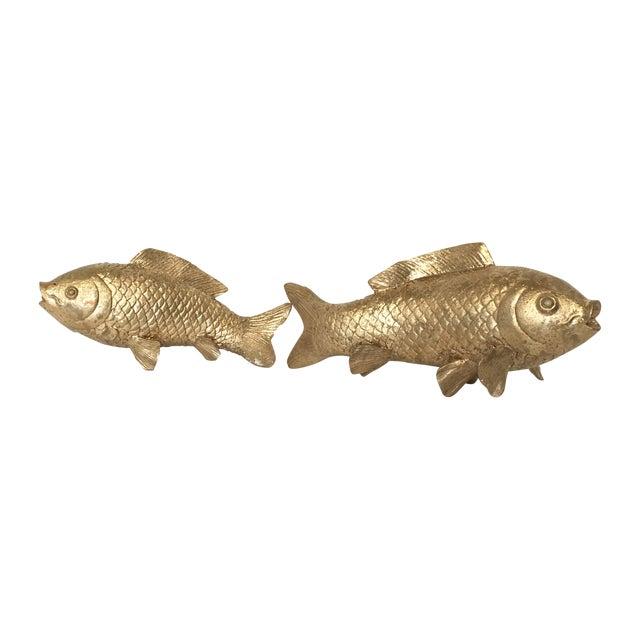 Vintage Gilt Koi Fish - Pair - Image 1 of 5