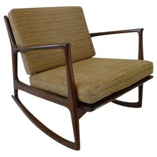 Ib Kofod Larsen for Selig Walnut Rocking Chair