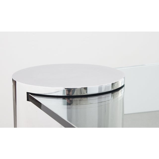 Polished Steel Cantilever Coffee Table Chairish