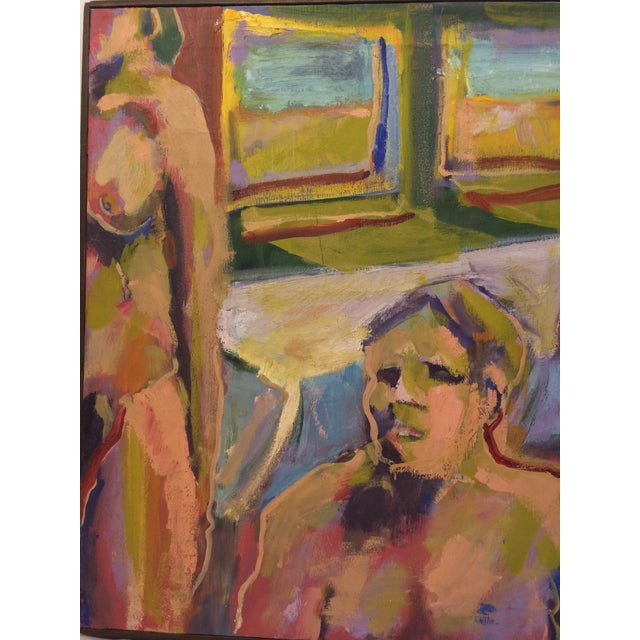 """One and Two,"" Oil Painting Circa 1966 - Image 4 of 7"