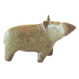 Vintage African Bronze Hippo Casting
