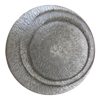Oxidized Zinc Nesting Trays - Set of 3