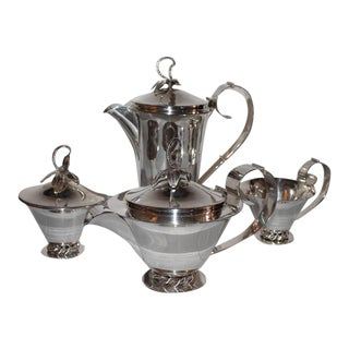 Three Crowns Silver Plate Coffee Set