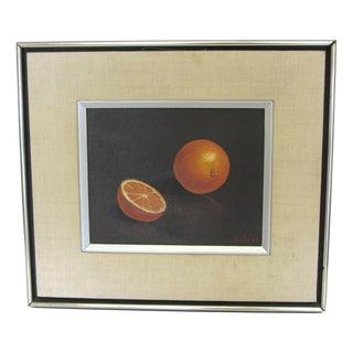 """Oranges"" Still Life- Mid-Century Signed Original Oil Painting"