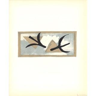 Georges Braque, l'Oiseau Bleu Et l'Oiseau Noir, 1959 Lithograph