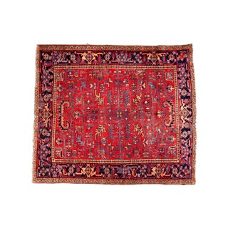 "Vintage Mehrivan Heriz Square Carpet - 6'6"" x 7'5"""