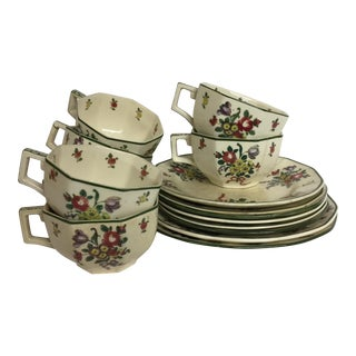 Royal Doulton Leeds Sprays Cups & Saucers - Set of 16