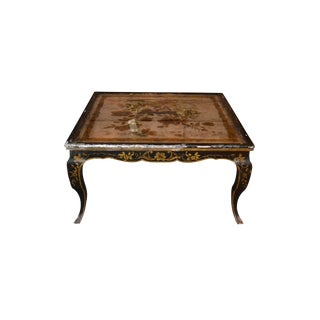 Reverse Painted Glass Top Coffee Table