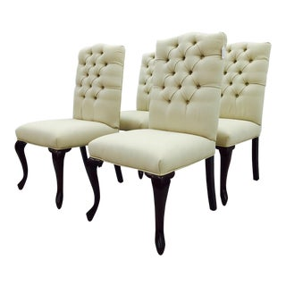 Button Back Dining Chairs - Set of 4