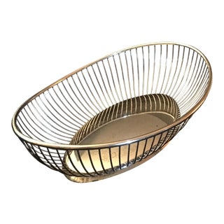 Mid-Century Modern Italian Silver Basket