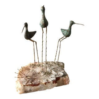 Curtis Jere Mid-Century Sandpipers Sculpture