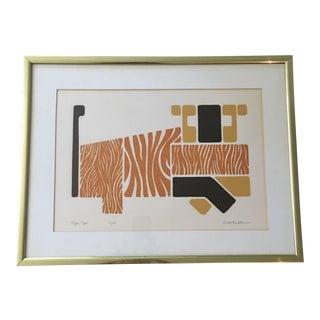 """Robert Waterman """"Tiger Tiger"""" Serigraph"""