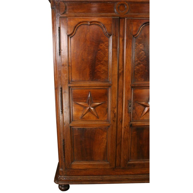 louis xiv era armoire with stars chairish. Black Bedroom Furniture Sets. Home Design Ideas