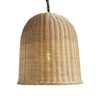 Bell Raw Wicker Lantern Large