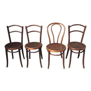 Thonet Bentwood Cafe Chairs - Set of 4