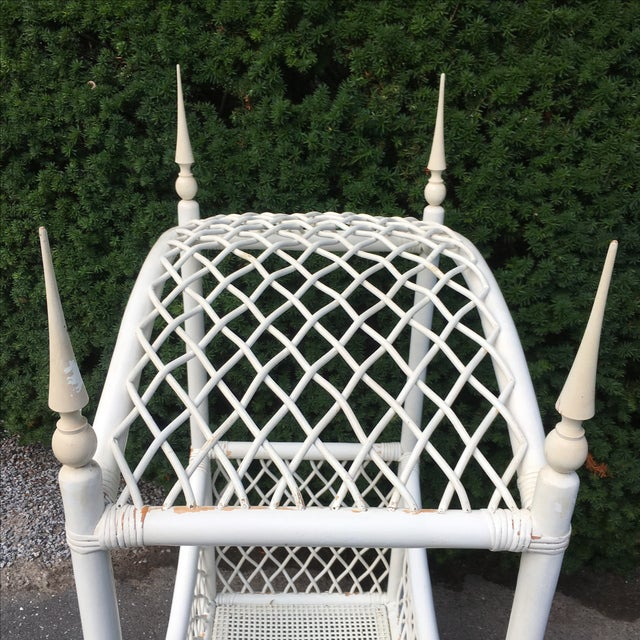 White Wicker Canopy Crib - Image 7 of 8