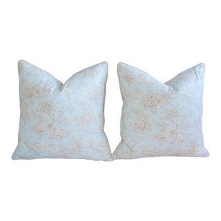 French Blue & White Toile Pillows - A Pair