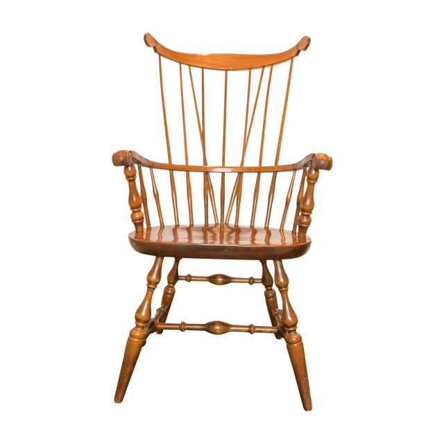 High Comb Back Windsor Chair - Image 1 of 6