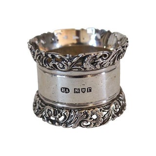 Antique Sterling Silver Napkin Ring, 1912