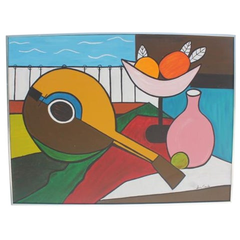 Image of Irma Canales Abstract Still Life Acrylic Painting