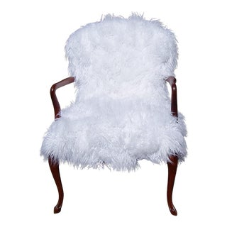 1940's Faux Fur Side Chair