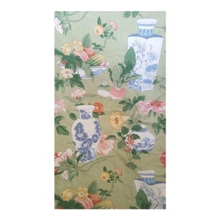 Vintage Chinoiserie Blue and White Ginger Jar Fabric - 2.6 Yards