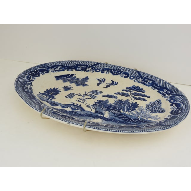 Traditional Japanese Blue Willow Platter - Image 5 of 5