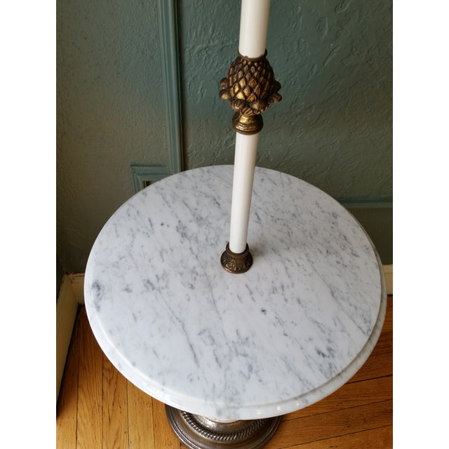Italian Brass & Marble Floor Lamp - Image 5 of 10