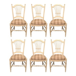 Country French Wheat Back Dining Chairs - Set of 6