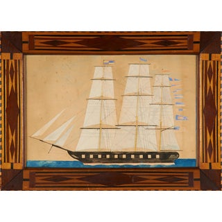 Portrait of a Three-Masted Ship