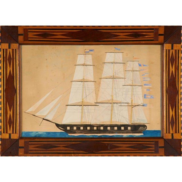 Image of Portrait of a Three-Masted Ship