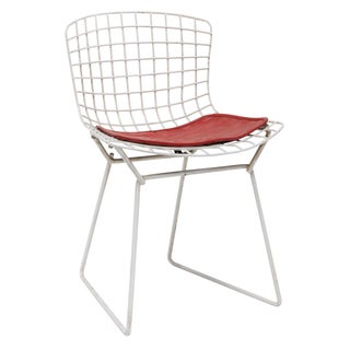 Knoll Bertoia Child Size Chair White/Red