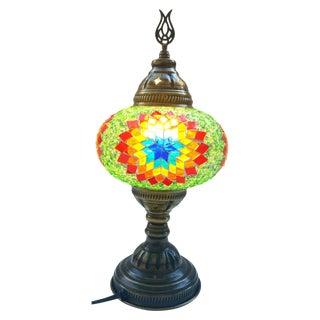 Green Mosaic Lamp