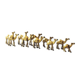 Vintage Brass Camel Herd - Set of 10