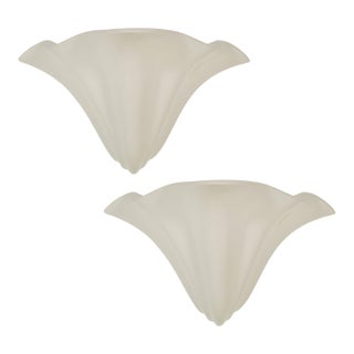 Pair of Richard Etts Mid-Century White Handkerchief Wall Sconces