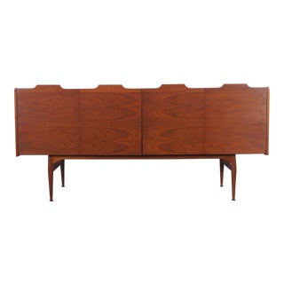 Vintage Walnut Bi-Folding Doors Credenza by John Keal