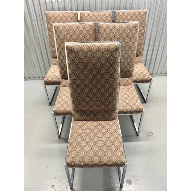 Milo Baughman Patterned Dining Chairs - Set of 6 - Image 4 of 11