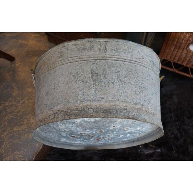 Rustic Metal Bin - Image 3 of 5