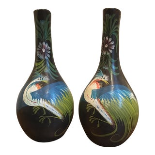 Latin American Pottery Floor Vases - Pair
